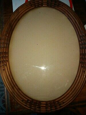 Antique Frame Oval Wood Carved Vintage Art Deco with His/Her Glass