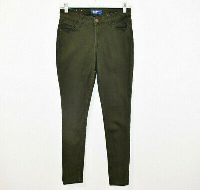 Old Navy Rockstar Mid Rise Jeans Pants Women's 2 Olive Green Skinny Stretch