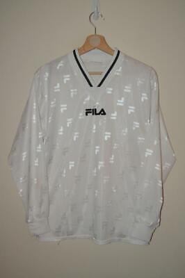 Retro White Fila Training L/S Gym Football Shirt Xl Boys Size 164
