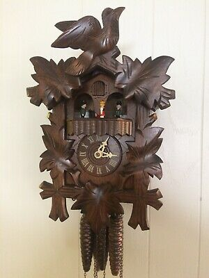 Black Forest German Cuckoo Clock with Edelweiss Music Box
