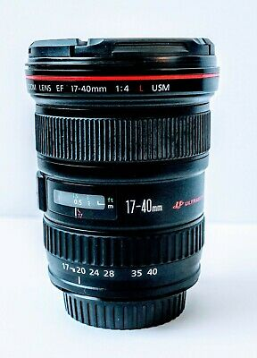 Canon EF 17-40mm 1:4 L USM Ultrasonic Wide Angle Zoom Lens Auto-Focus