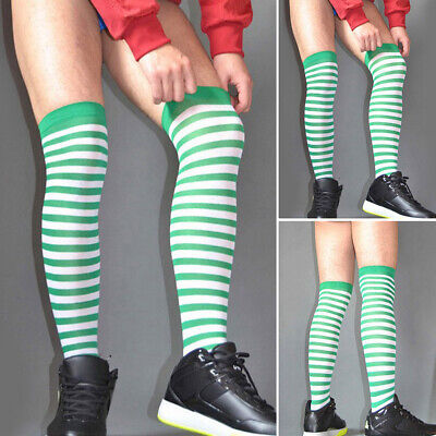 Men's Over The Knee Sports Stockings Long Soccer Socks Thigh High Warm Hosiery