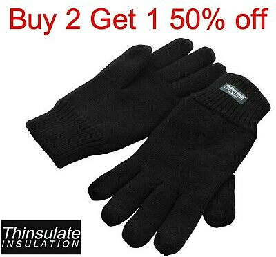 Unisex Mens Women's Thermal Thinsulate Knitted Gloves Winter Warm Gloves