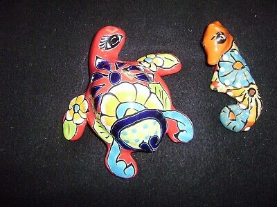 TALAVERA  Seahorse and Turtle from MEXICO