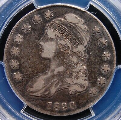 "1836 Capped Bust Half Pcgs Vf 30 Lettered Edge With A Nice ""Circ Cam"" Look"