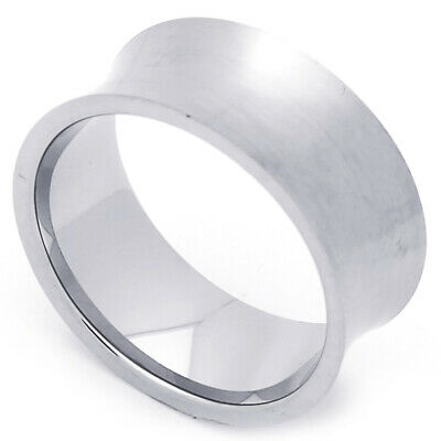 Men Women Fashion 9MM Stainless Steel Wide Concaved Wedding Band Ring