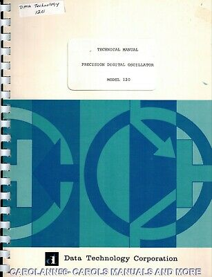 DATA TECHNOLOGY Manual 120 PRECISION DIGITAL OSCILLATOR