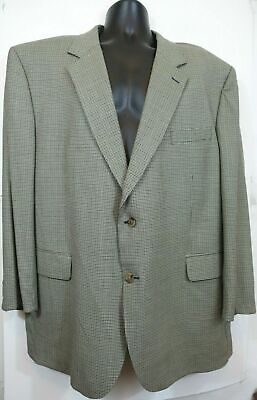 Mens Blazer Sport coat Jacket Jos A Bank 110s Wool Loro Piana  48R Houndstooth