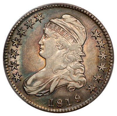 1819/8 50C Large 9 Overton 103a Capped Bust Half Dollar PCGS XF40