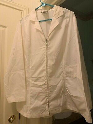 Urbane Scrubs White Lab Coat/Scrub Jacket Size 2Xl Nwt Unisex Medical Nurse Vet