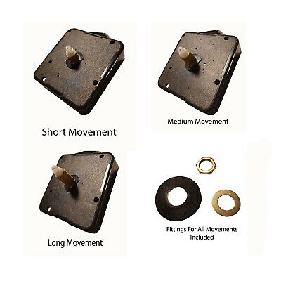 Replacement Quartz Clock movement mechanism with fittings + free Battery