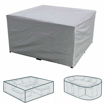 Extra Large Garden Rattan Outdoor Furniture Cover Patio Table Protection Silver