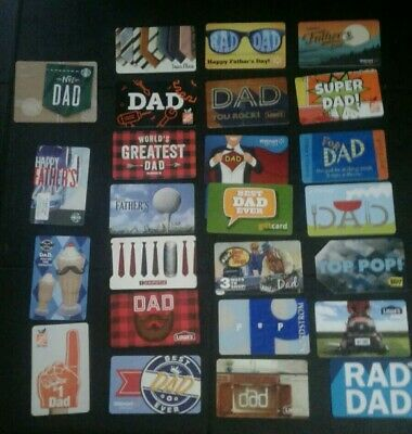 25 Different Dad, Father, Pop Gift Cards, Collectible, Mint