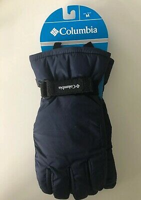 Columbia Mountain Home Insulated WATERPROOF SOFTSHELL Navy Gloves Youth Size M