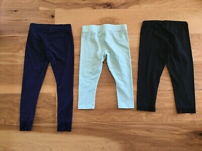 Lot of 3 Girls Activewear Capris/Leggings Lands's End, Justice, Arizona Sz 7