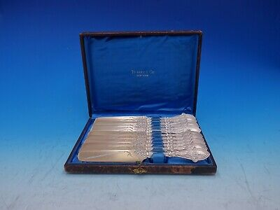Italian by Tiffany and Co Sterling Silver Tea Knife Set 12pc in Fitted Box GW BC