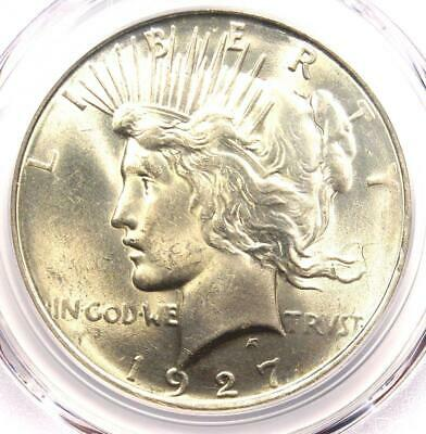 1927-D Peace Silver Dollar $1 - PCGS Uncirculated Detail - Rare Date MS UNC Coin