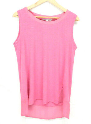 Adrienne Vittadini hot pink scoop neck sleeveless pullover tunic blouse *Size M*