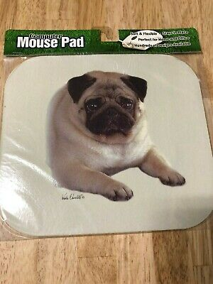 MOUSE MAT 139 Pug Dog New Custom Rectangle Non-Slip Rubber Mousepad