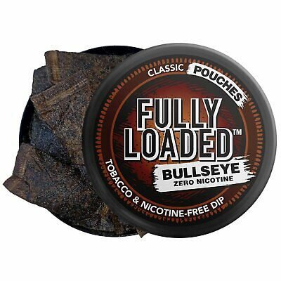 Fully Loaded Chew Tobacco and Nicotine Free Classic Bullseye Pouches Signatur...
