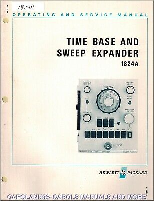 HP Manual 1824A TIME BASE AND SWEEP EXPANDER