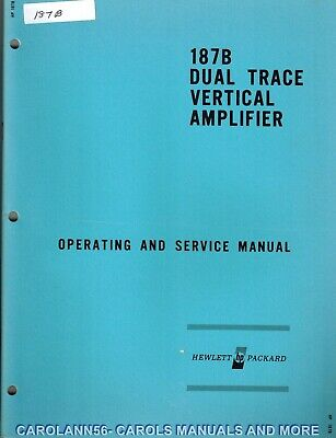 HP Manual 187B DUAL TRACE VERTICAL AMPLIFIER