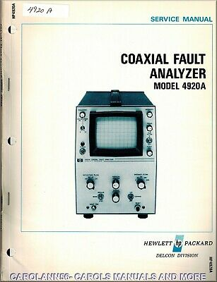HP Manual 4920A COAXIAL FAULT ANALYZER