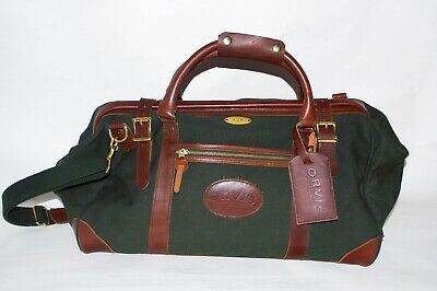 Orvis Battenkill Gokey Leather and Canvas Carpenter/Duffel Bag With Monogrammed