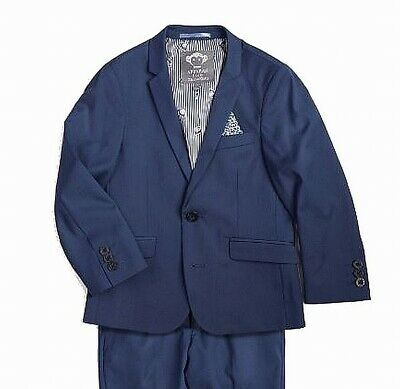 Appaman Boy's Suit Jacket Blue USA 2T Two-Button Three-Pocket Solid $78- #561