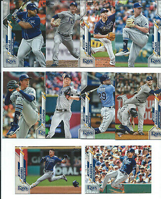 2020 Topps Series 1 Rays Base Set, 10 Cards, In Stock Ready To Ship