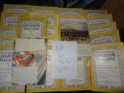 LOT #3: 1930s National Geographic Magazine Issues as Shown