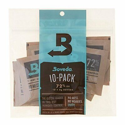 Boveda 72% Rh 2-Way Humidity Control, 8 g, 10 Pack Dehumidifier Made in USA
