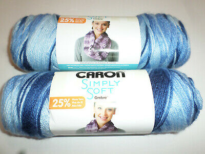 Caron Simply Soft Yarn Ombre COFFEE LATTE BROWN 5oz Skein NIP Non-Smoking Home