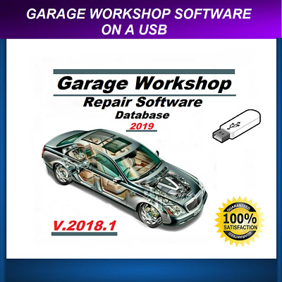 2019 Garage Workshop Repair Database on a usb