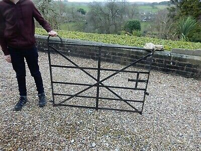 beautifully simple antique wrought iron garden estate pedestrian gate  1880 era