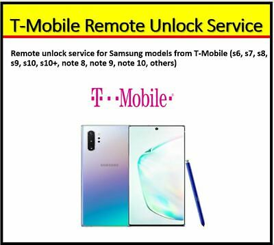 T-Mobile Remote Unlock Service For All Samsung Models Bit 2 Supported- Instant