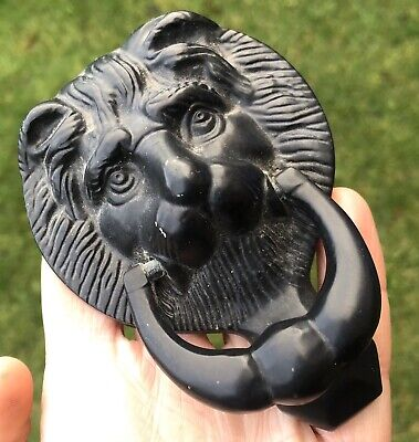 Vintage Cast Iron Lion Head Shaped Door Knocker