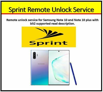 SPRINT REMOTE UNLOCK SERVICE FOR ALL SAMSUNG MODELS BIT2 Supported- INSTANT