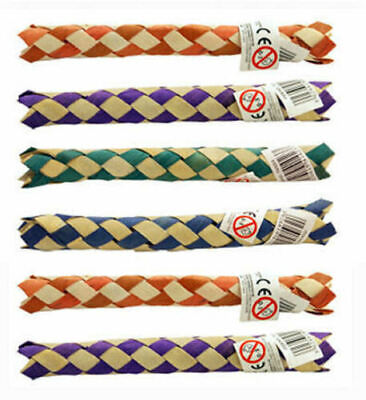 6 Chinese Bamboo Finger Traps - Kids Joke Gag Party Bag Filler Colour Fun Toy