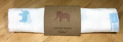 Super Soft Baby Comfort Muslin Square. Elephant - Olly & Belle 🍼