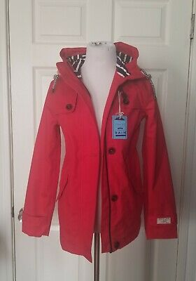 Joules Red Right As Rain Waterproof Raincoat Coast Size 2
