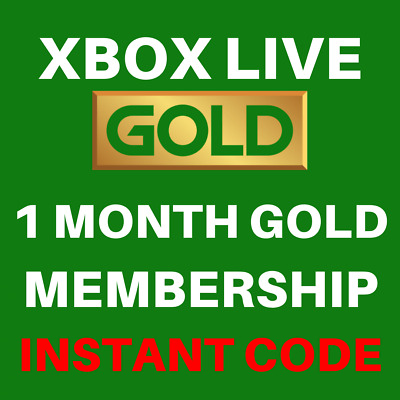 Xbox Live Gold 1 Month Trial Membership Code - Xbox One / Xbox 360 - INSTANT