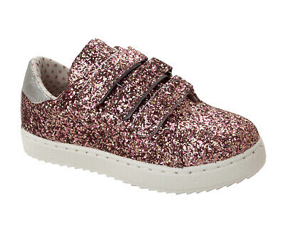 GIRLS TROLLS GLITTER SPORTS TRAINERS CHARACTER POPPY PUMPS SHOES UK SIZE 6-12