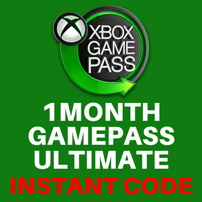 Xbox Gamepass Ultimate 1 Month Membership Code Xbox One / PC - INSTANT