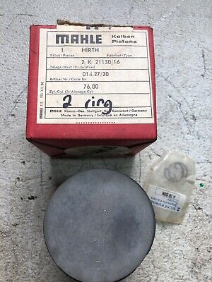 NOS HIRTH piston/rings. (MAHLE) 014.27/20. (.20 over). 75.88mm