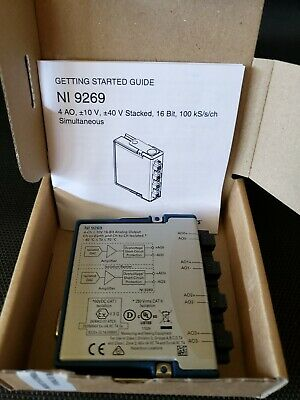 National Instruments NI 9269 4CH Voltage Output, +/-10V, CH-CH ISO 781098-01