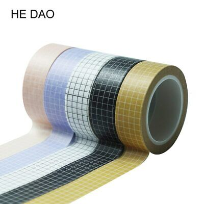 10M Black and White Grid Washi Tape Stationery Decorative Stickers Tapes