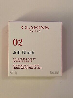 Clarins Joli Blush Mirrored Compact - 02 Cheeky Pink - 1.6g - New & Genuine