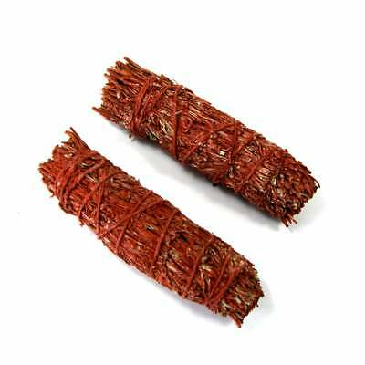 """ONE 4"""" Dragons Blood Resin and Mountain Sage Natural Mixed Bundle Smudge Stick"""