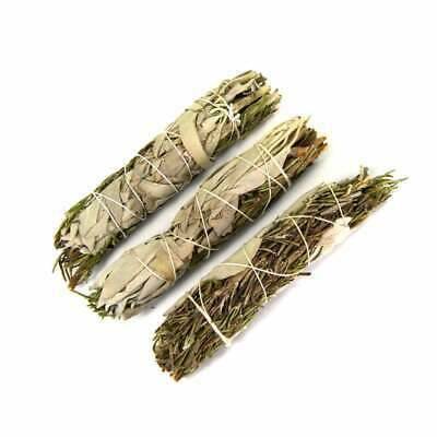 "ONE 4"" California White Spirit Sage and Rosemary Natural Smudge Stick Incense"